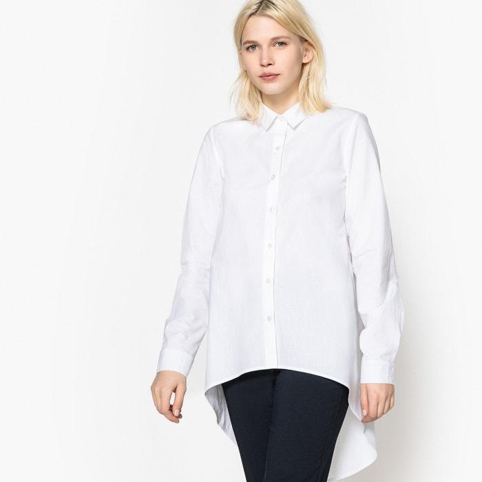 Camicia più lunga dietro, maniche lunghe, puro cotone  La Redoute Collections image 0