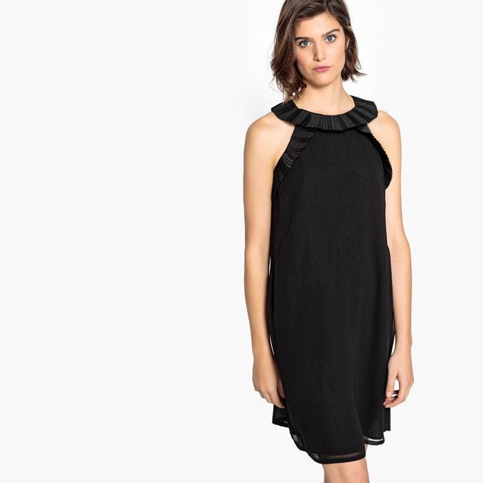 284b848b7992a8 Rechte effen jurk zonder mouwen met volants La Redoute Collections ...