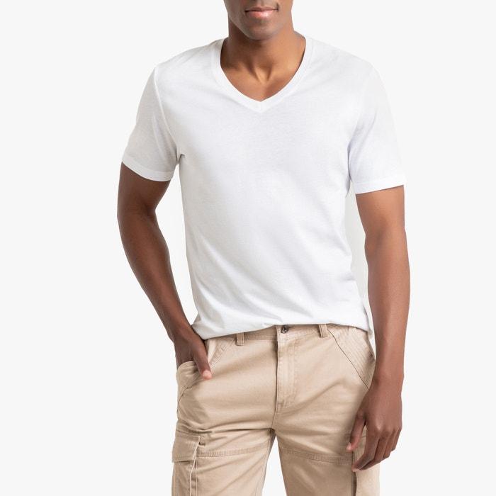 T-shirt met V-hals in katoen, Théo  LA REDOUTE COLLECTIONS image 0