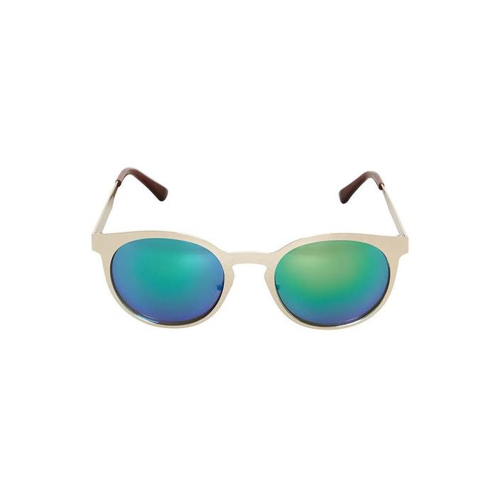 Lunettes verre miroir monture en m tal or dor hallhuber for Verre miroir lunette