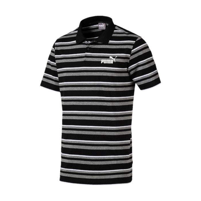 158be88f96 Stripe j short-sleeved polo shirt , black striped, Puma   La Redoute
