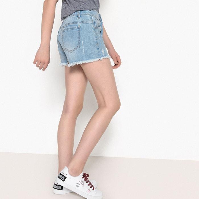 Shorts in denim destroy da 10 a 16 anni  La Redoute Collections image 0