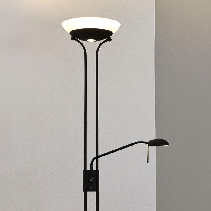 lampadaire led denise avec liseuse satin noir poudr lampenwelt la redoute. Black Bedroom Furniture Sets. Home Design Ideas