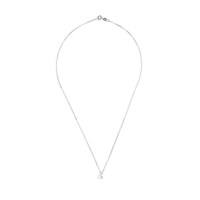 Collier diamant solitaire Expédition Bas Pas Cher En Ligne Vente Pas Cher Pour Acheter Obtenir Acheter Pas Cher Boutique cgFXLx