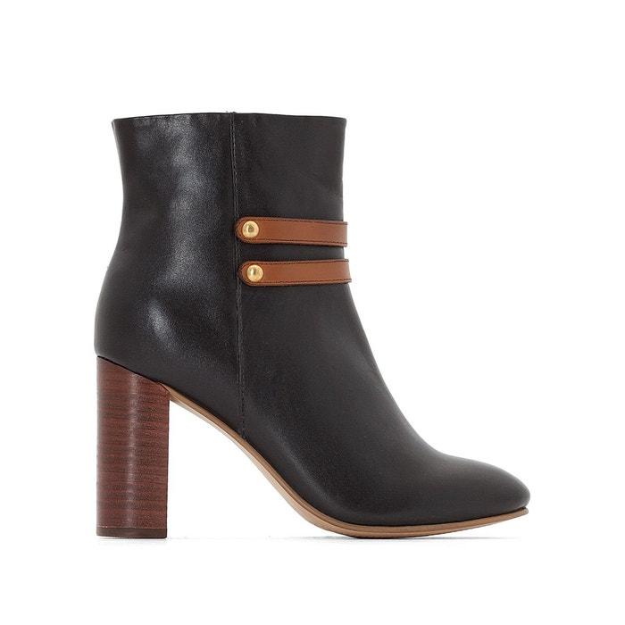 Castaluna Boots cuir à talon pied large 38-45 Acheter Pas Cher Pas Cher Acheter Dernières Collections Bon Marché Mastercard Pas Cher En Ligne Wiki Pas Cher XX31kto7