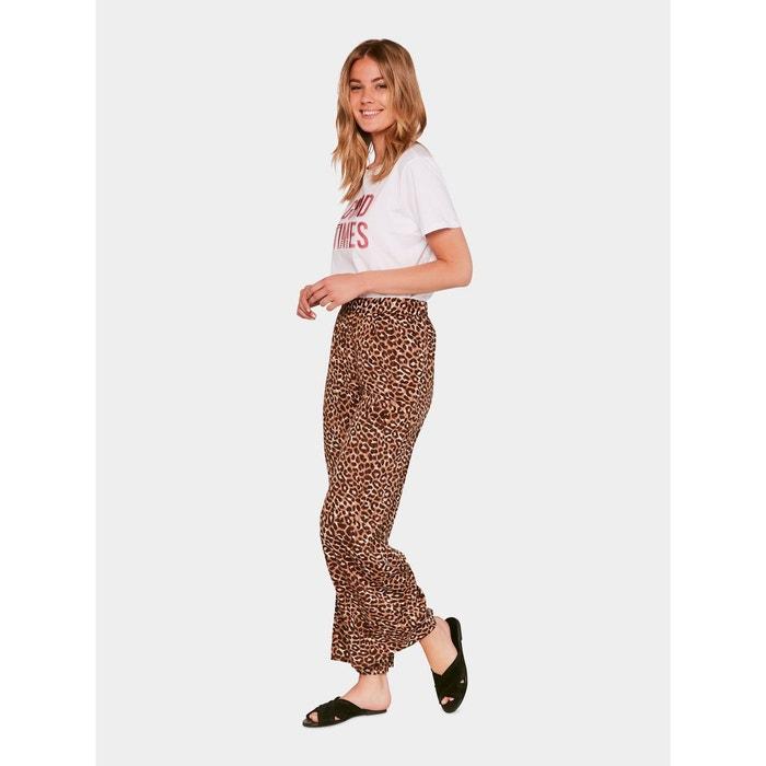 Pantalon Ample imprimé léopard  PIECES image 0