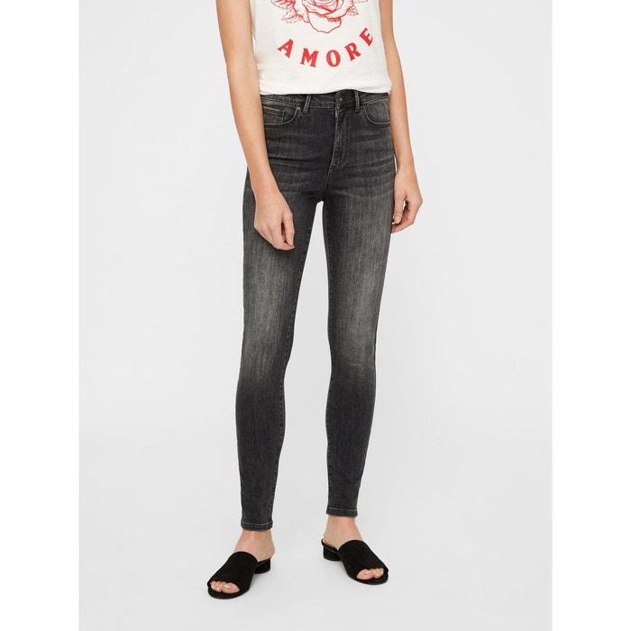61f0f90bcd Jean skinny taille haute gris-dark grey denim Vero Moda | La Redoute