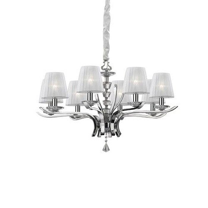 lustre moderne pegaso blanc en m tal blanc keria la redoute. Black Bedroom Furniture Sets. Home Design Ideas