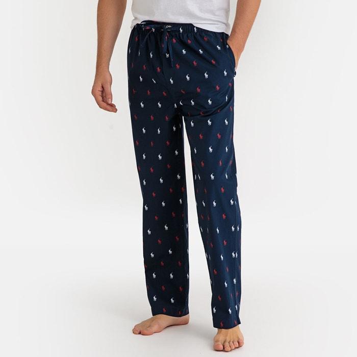 9262dae34da4be Pantalon de pyjama pur coton, imprimé bleu marine Polo Ralph Lauren | La  Redoute