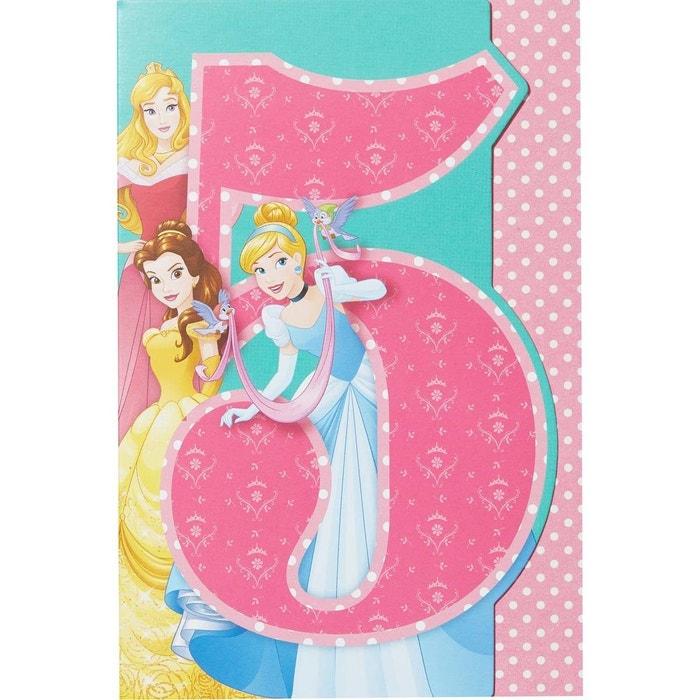 Carte Anniversaire 5 Ans Princesses Disney Multicolore Draeger La Carterie La Redoute