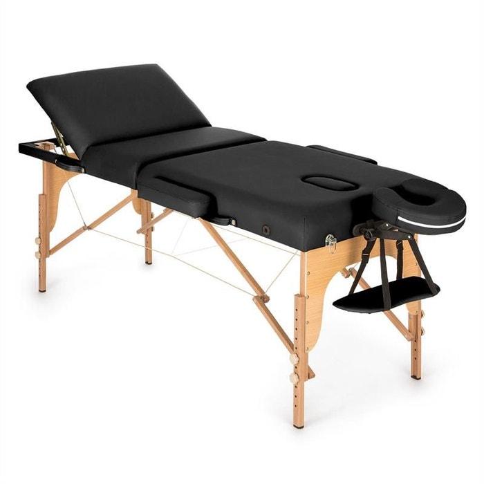 Klarfit MT 500 Table De Massage Pliante 210 Cm 200 Kg Mousse Fine  Noir  KLARFIT