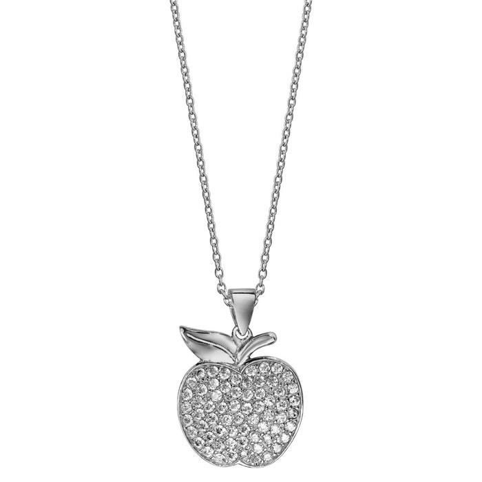 Collier longueur réglable: 40 à 45 cm pendentif pomme oxyde de zirconium blanc argent 925 couleur unique So Chic Bijoux | La Redoute Sast Sortie Geniue Stockiste Vente En Ligne hUgRBl