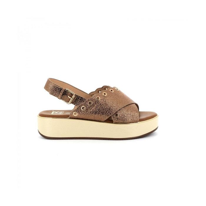 Cassis Côte D'azur Sandale plateforme NACERA Noir - Chaussures Sandale Femme