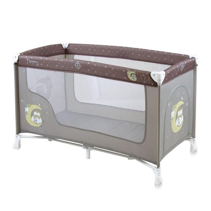 lit parapluie nanny 1 niveau beige couleur unique lorelli la redoute. Black Bedroom Furniture Sets. Home Design Ideas