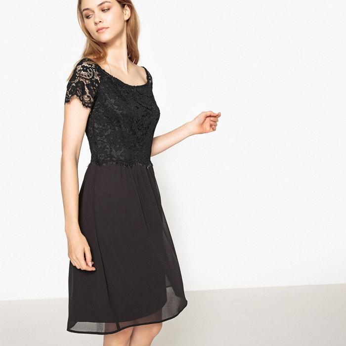 Korte effen rechte jurk met korte mouwen  ESPRIT image 0