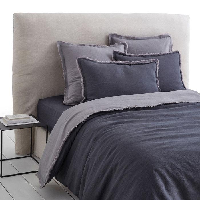 housse couette lin lav double frange alhanasia am pm la redoute. Black Bedroom Furniture Sets. Home Design Ideas