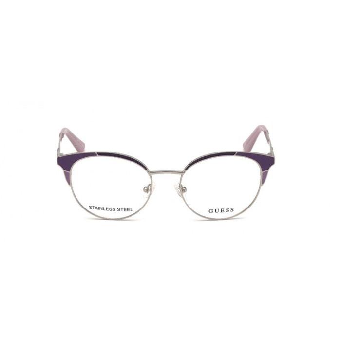 e2c4261b62723 Lunettes de vue pour femme guess violet gu 2694 083 52 18 violet Guess