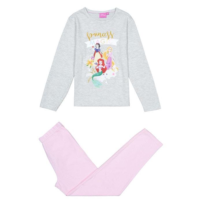 3259524514f86 Pyjama 3-8 ans rose gris Disney Princess