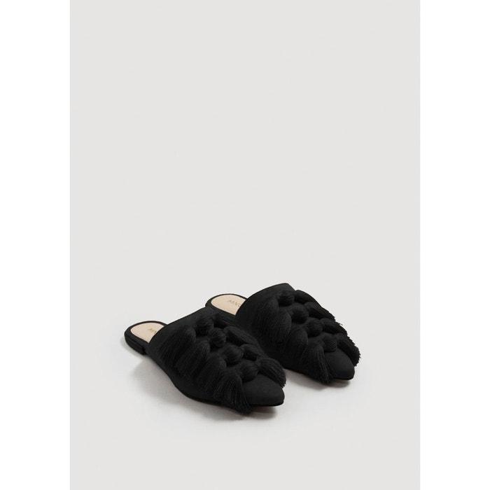 Chaussures à franges cuir Mango