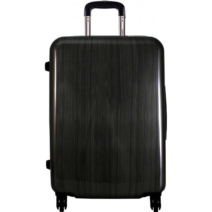 valise rigide taille m 67cm black fabric david jones la. Black Bedroom Furniture Sets. Home Design Ideas