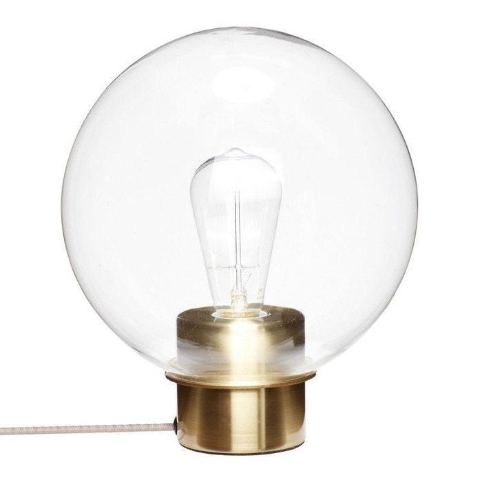 Lampe de table boule verre transparent métal  Hübsch 24 cm  HUBSCH image 0