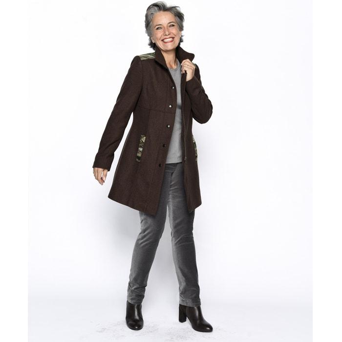 eae4549672066 Abrigo de paño de lana marrón Anne Weyburn