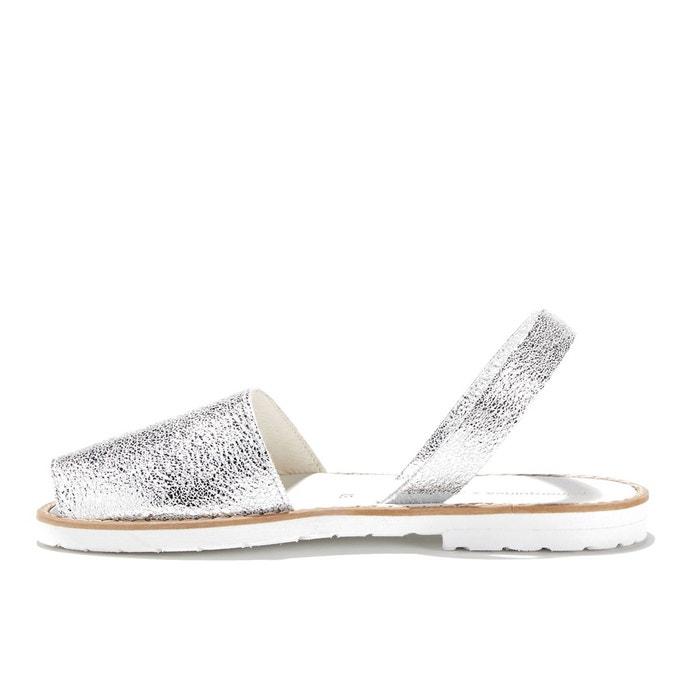 Sandales plates MINORQUINES FIESTA vache de AVARCA BLANCO cuir qaxx7zfd