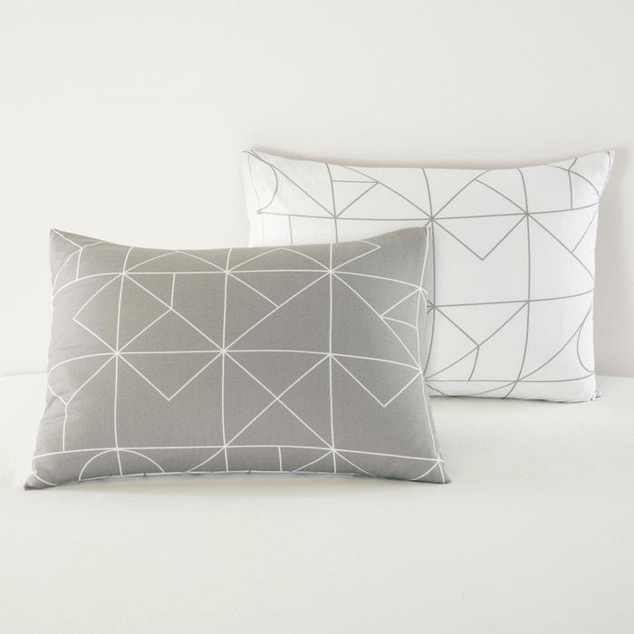 VIDMEY Geometric Print Cotton Pillowcase  La Redoute Interieurs image 0