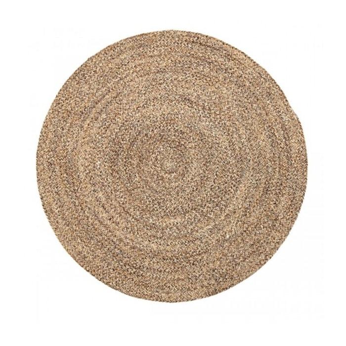 Tapis rond tress en laine et coton beige 120cm beige bloomingville la redoute - Tapis rond la redoute ...
