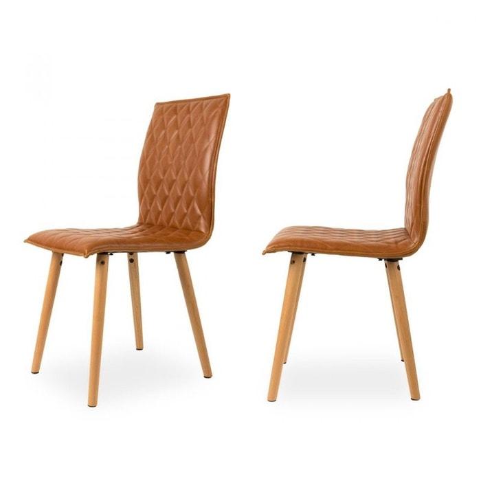 Lot de 2 chaises vintage andy drawer la redoute for La redoute chaise de bureau