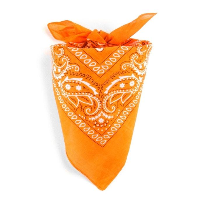 cd9c4cdb999 Foulard bandana mandarine mandarine Allee Du Foulard