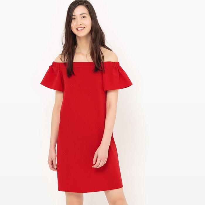 afbeelding Bandeau jurk en ontblote schouders La Redoute Collections