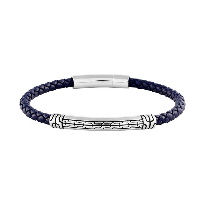 réal Acheter Le Meilleur Endroit Pas Cher Bracelet les haubans en acier et cuir bleu bleu B&G | La Redoute Choix De Sortie Meilleur Jeu lD6onVY
