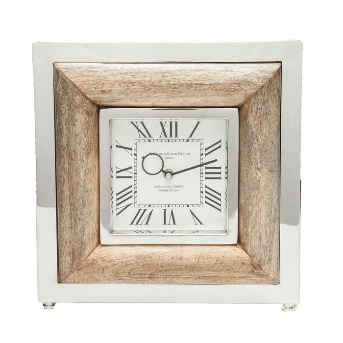 Horloge de table st martin bois kare design bois kare for Horloge design bois