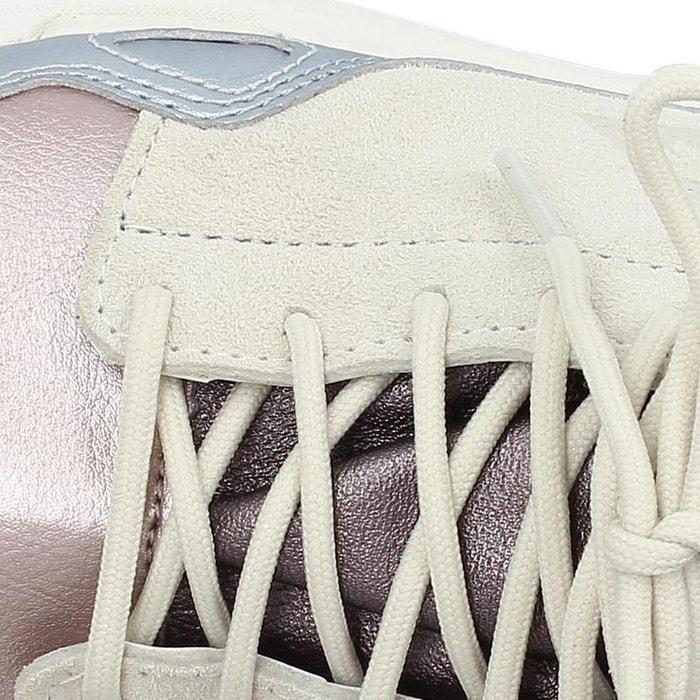 06af9e28d991 Basket lcs r flow w metallic leather mix beige Le Coq Sportif