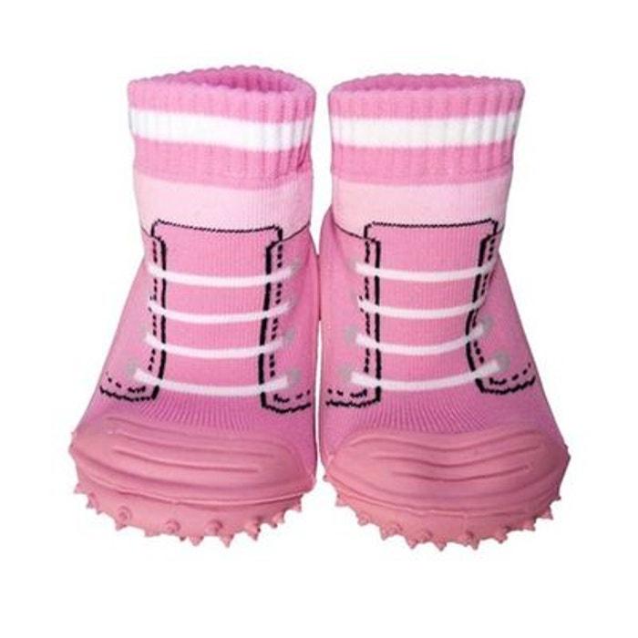 chaussons chaussettes enfant antid rapants semelle souple baskets rose rose c2bb la redoute. Black Bedroom Furniture Sets. Home Design Ideas