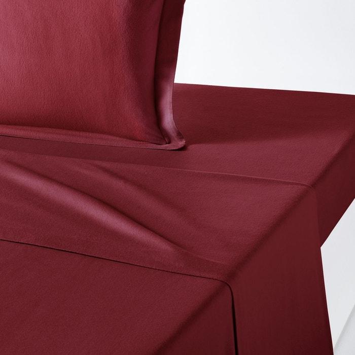 drap plat uni en flanelle scenario la redoute interieurs. Black Bedroom Furniture Sets. Home Design Ideas
