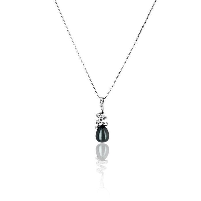 Collier En 9251000 Perle Blanche Argent Et CBexord