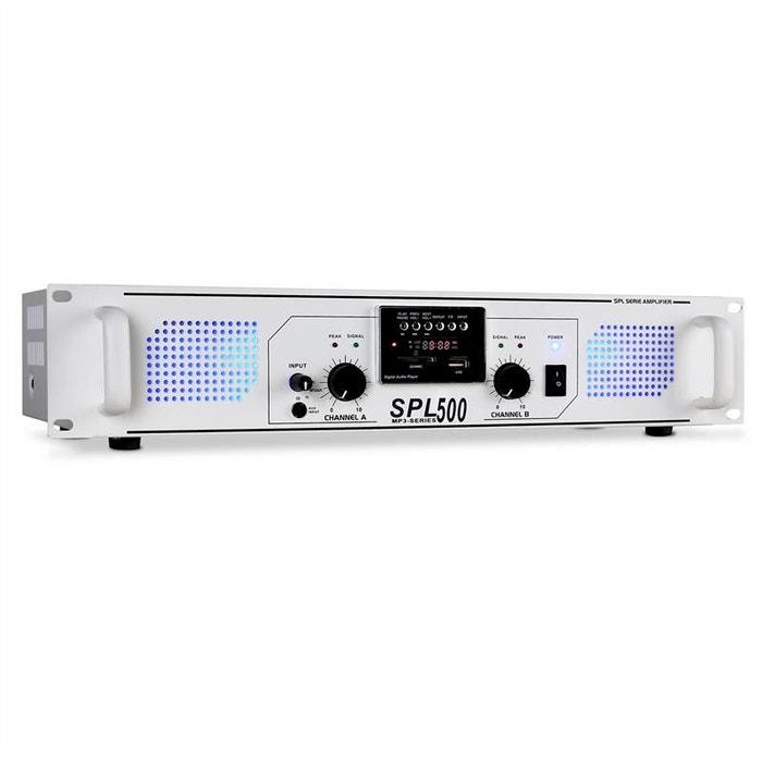 ampli sono skytec spl-500 usb-sd-mp3 1600w blanc