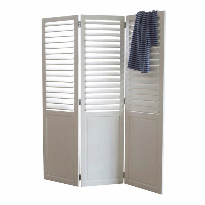 paravent lamelles orientables aima blanc la redoute interieurs la redoute. Black Bedroom Furniture Sets. Home Design Ideas