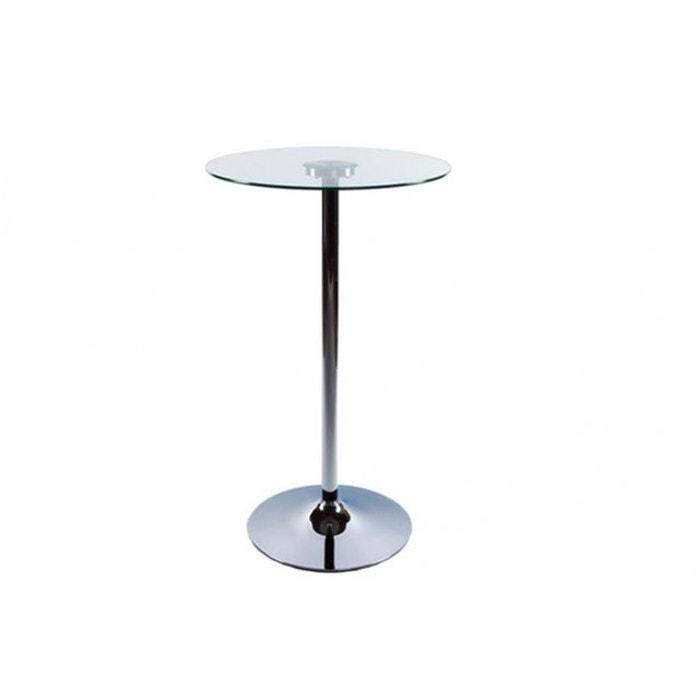 table haute de bar stand verre transparent kokoon design la redoute. Black Bedroom Furniture Sets. Home Design Ideas