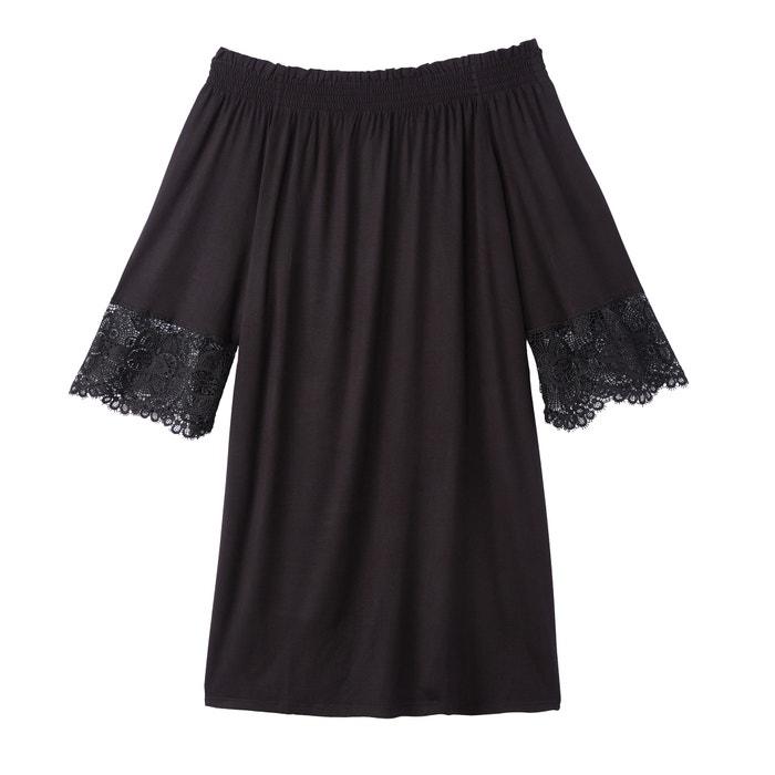 Flared Knee-Length Cold Shoulder Dress  BENETTON image 0