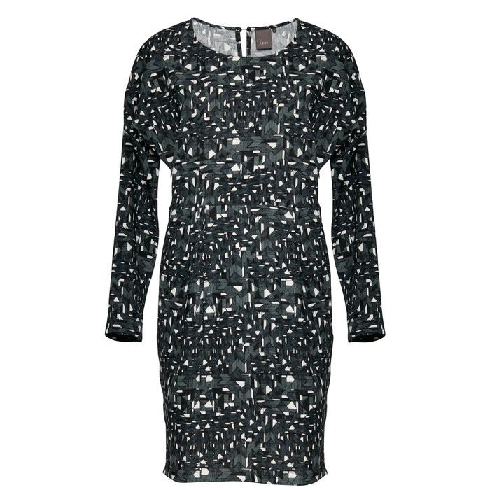 "Image Kleid ""Teaser Dress 2"", bedruckt, lange Ärmel ICHI"