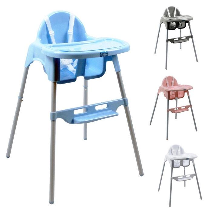 chaise haute b b r glable hauteur et tablette d lice bleu bleu monsieur bebe la redoute. Black Bedroom Furniture Sets. Home Design Ideas