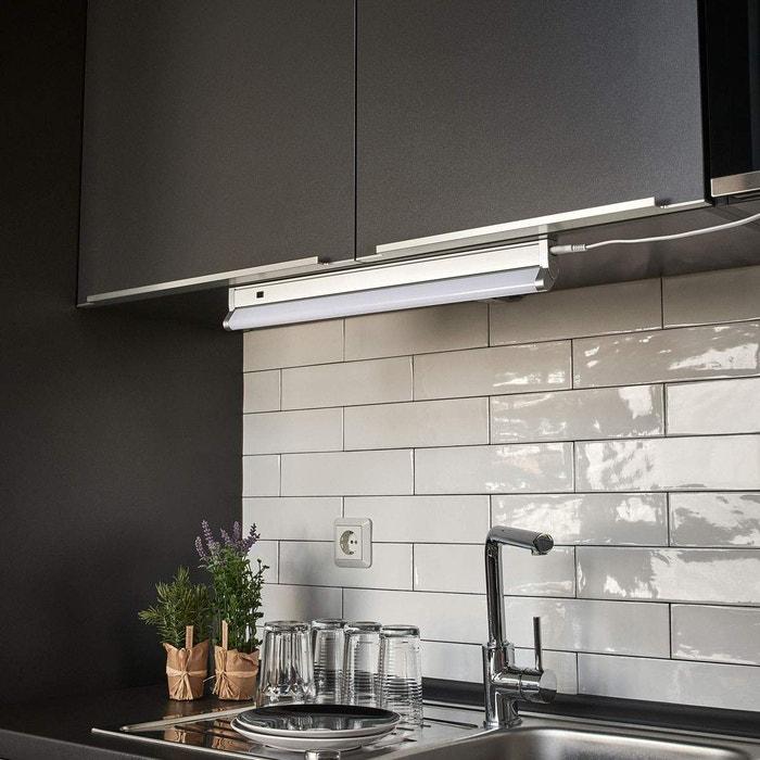 Led Lampes Sous Meuble En Plastic Devin Pour Cuisine Blancargenté