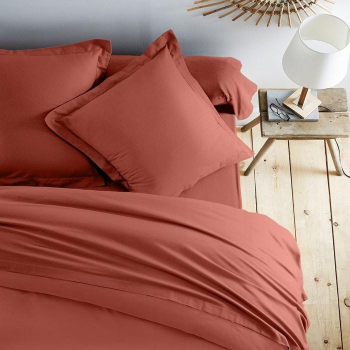 drap flanelle orange cuit scenario la redoute. Black Bedroom Furniture Sets. Home Design Ideas