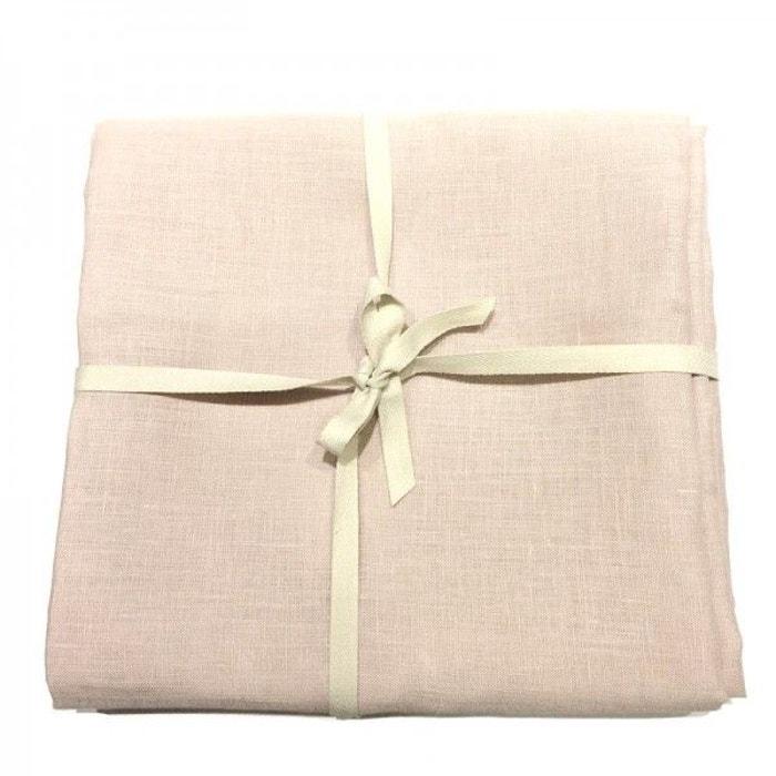 coupon de tissu de lin 3 m tres col p tale rose la. Black Bedroom Furniture Sets. Home Design Ideas