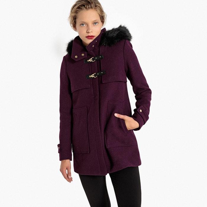 Duffle-coat en mélange laine prune La Redoute Collections   La Redoute 907e99e36583