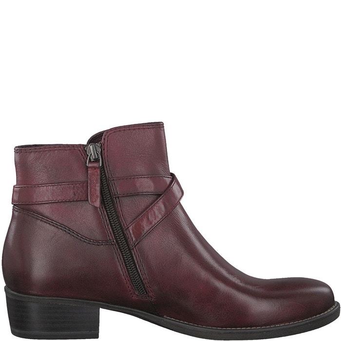 Boots cuir marly rouge bordeaux Tamaris Vente Recommander Acheter Pas Cher 2018 Nouveau gr1N4CX