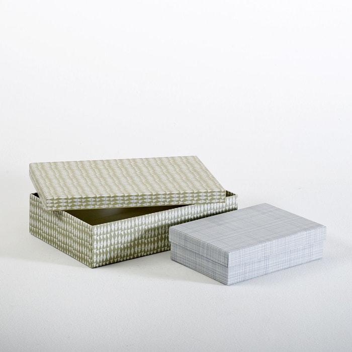 bo te de rangement lot de 2 multicolore atelier lzc la redoute. Black Bedroom Furniture Sets. Home Design Ideas